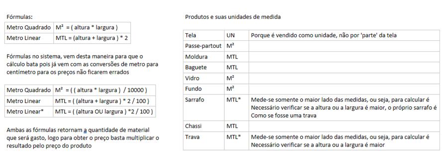 Cadastro de Produtos - Matéria prima Molduraria 16