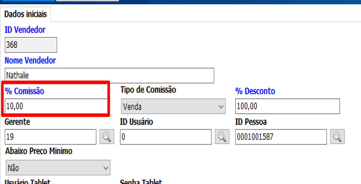 Configuração de comissão do vendedor 17
