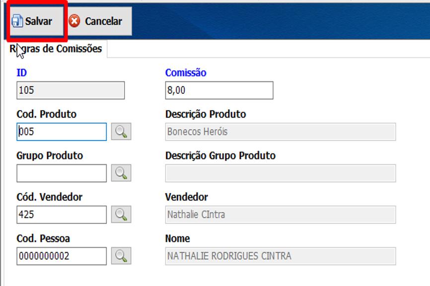 Configuração de comissão do vendedor 31