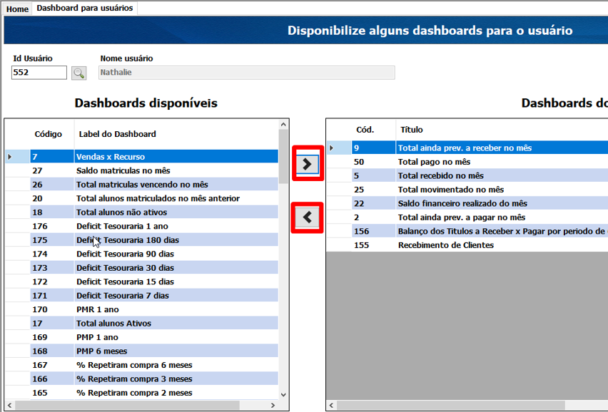 Cadastro de Dashboards 8