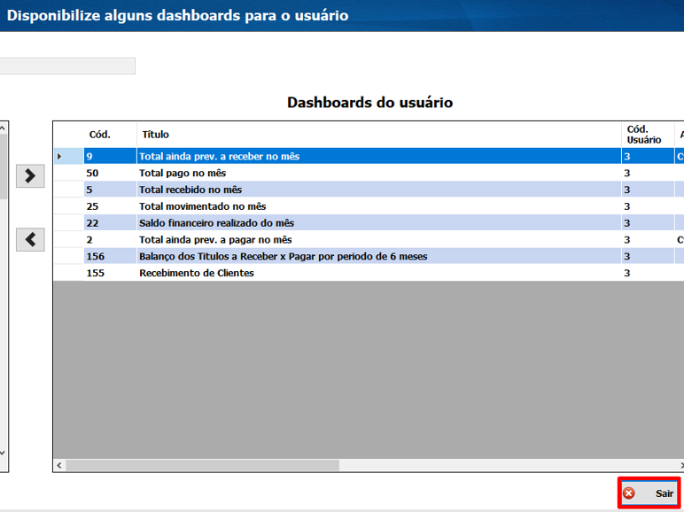 Cadastro de Dashboards 17